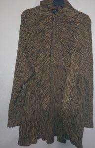 Apt.9 Golden Tan Brown Waterfall Sweater 3X Plus